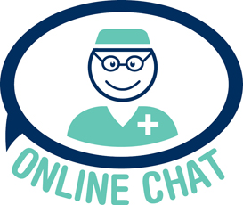 Online Chat with a Doctor logo for the International Center for Limb Lengthening