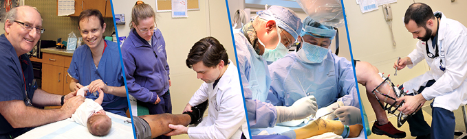 Limb Lengthening and Reconstruction Fellows with Dr. John Herzenberg, Dr. Janet Conway, Dr. Shawn Standard, and Dr. Michael Assayag