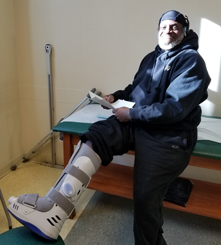 Andre on his way to recovery thanks to a total ankle replacement by Dr. Christopher Bibbo