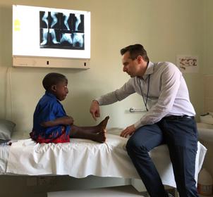 Buru having his legs examined by Dr Christof Radler