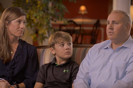 CJ and his family discussing his treatment for congenital pseudarthrosis of the tibia at the International Center for Limb Lengthening