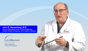 Dr. John Herzenberg explaining how PRECICE internal lengthening works