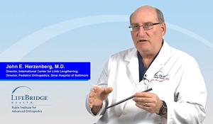 Dr. John Herzenberg explaining how PRECICE internal lengthening works