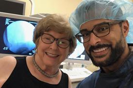 Joyce with Dr. Noman Siddiqui