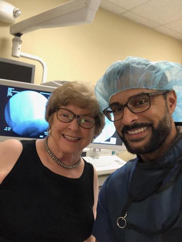 Joyce with Dr. Siddiqui
