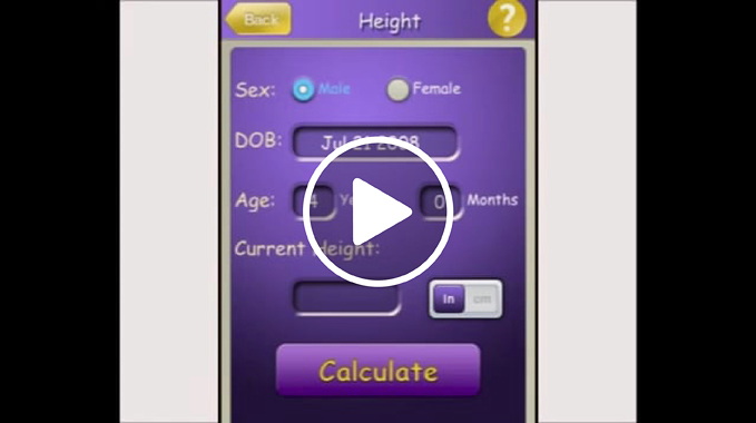 Video demonstrates how the Multiplier App, developed at the International Center for Limb Lengthening, is used to predict when a patient should start and stop treatment
