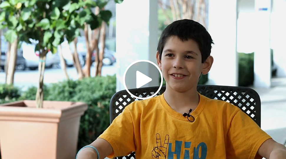 Jackson, a patient with Perthes Disease, who was treated at the International Center for Limb Lengthening