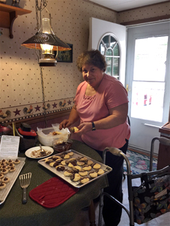 Sue baking cookies