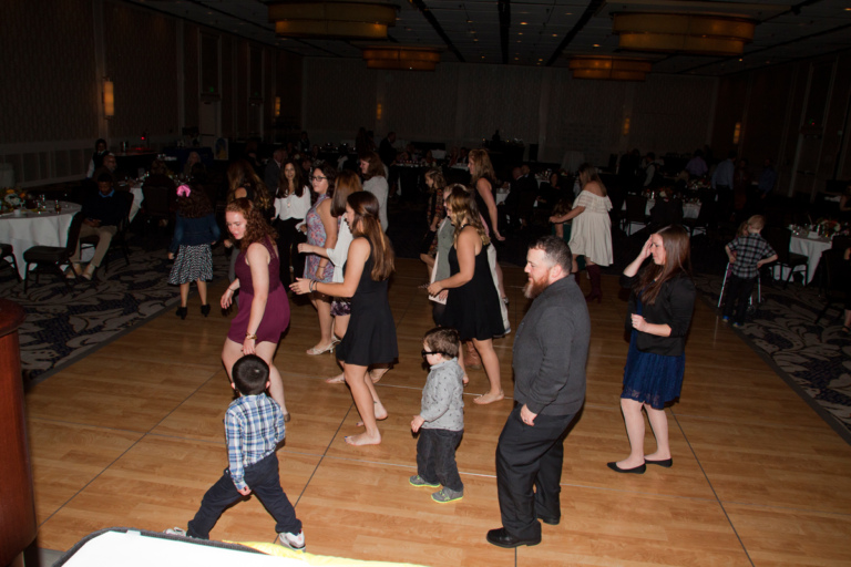 Families and staff enjoy an evening of dancing at Rubin Institute for Advanced Orthopedics 2017 Save-A-Limb Fund Dinner