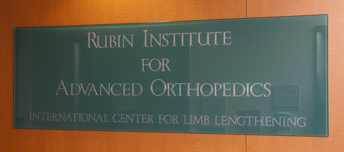 Sign on the wall in the International Center for Limb Lengthening clinic