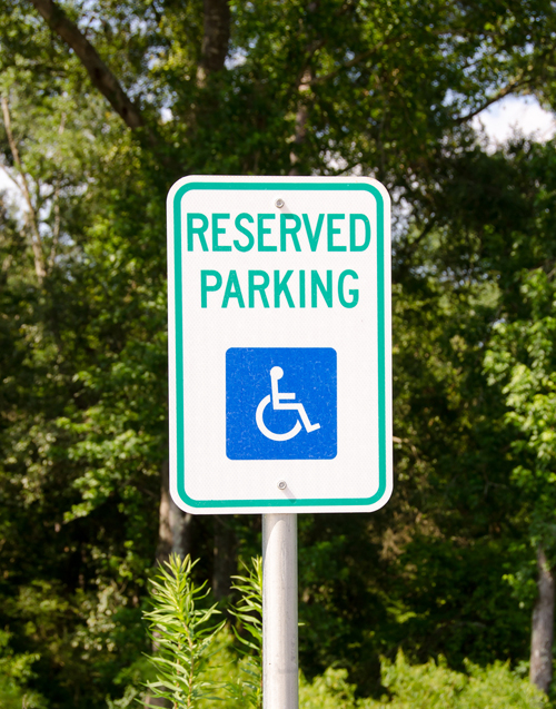 Reserved parking handicap sign