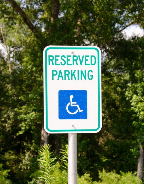 Reserved parking handicap sign