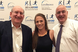 Rachael at Save-A-Limb Fund Dinner with Dr. Herzenberg and Dr. Standard