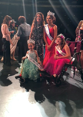 Alena winning the Miss You Can Do It pageant