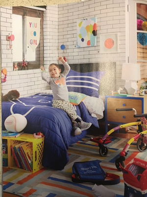 Alena featured in a Land of Nod children's furniture advertising campaign