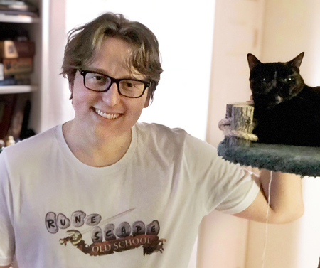 Gavin with a cat
