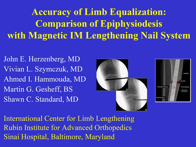 Research poster presented at the Annual Meeting of the American Orthopaedic Association in Charlotte, North Carolina in June 2017