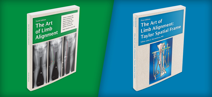 Covers of The Art of Limb Alignment and The Art of Limb Alignment: Taylor Spatial Frame textbooks