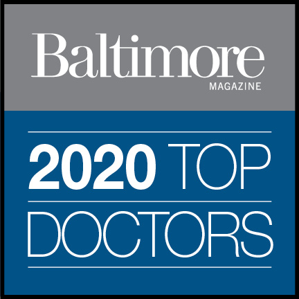 Logo for Baltimore Magazine's 2020 Top Doctor list