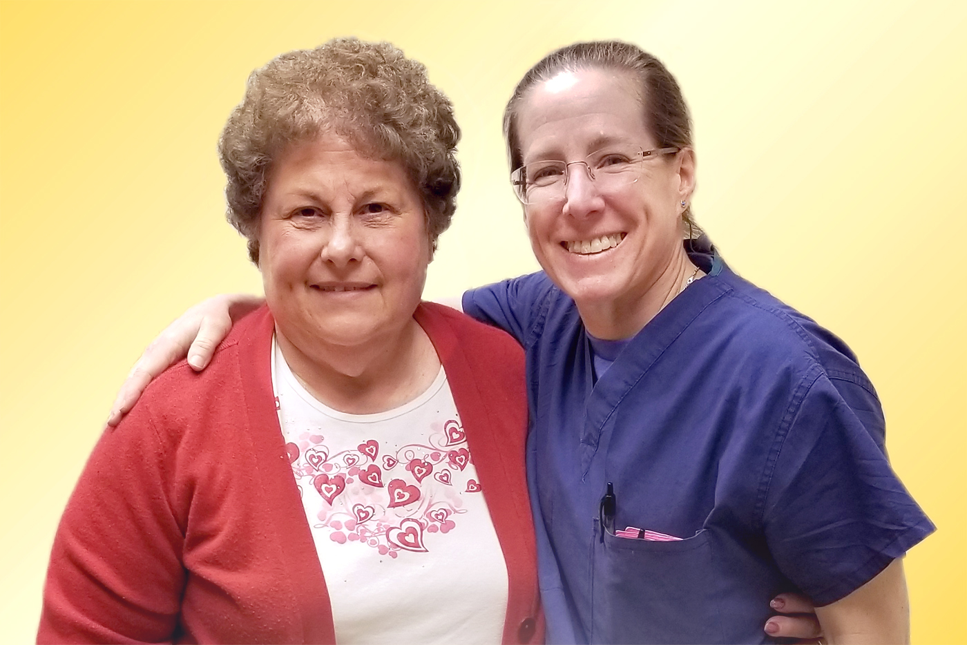 Sue with Dr. Janet Conway