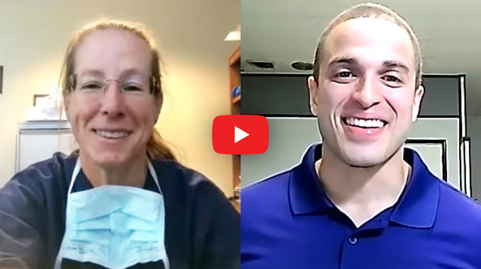 Thumbnail from a video interview showing a screenshot of Dr. Janet Conway and Cyborg 4 Life