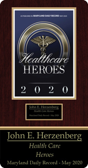 Dr. John Herzenberg's lifetime achievement award from The Daily Record's Healthcare Heroes