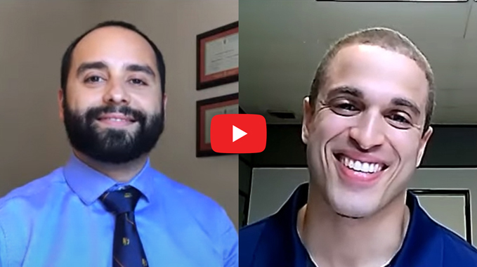 Thumbnail from a video interview showing a screenshot of Dr. Michael Assayag and Cyborg 4 Life