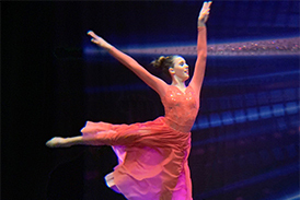 Cassidy dancing in her winning performance at the world dance championships